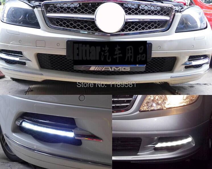 Для Benz W204 C300 c260-хай-стрит C200 C180 2007 - 2011 заменить из светодиодов дневного света DRL