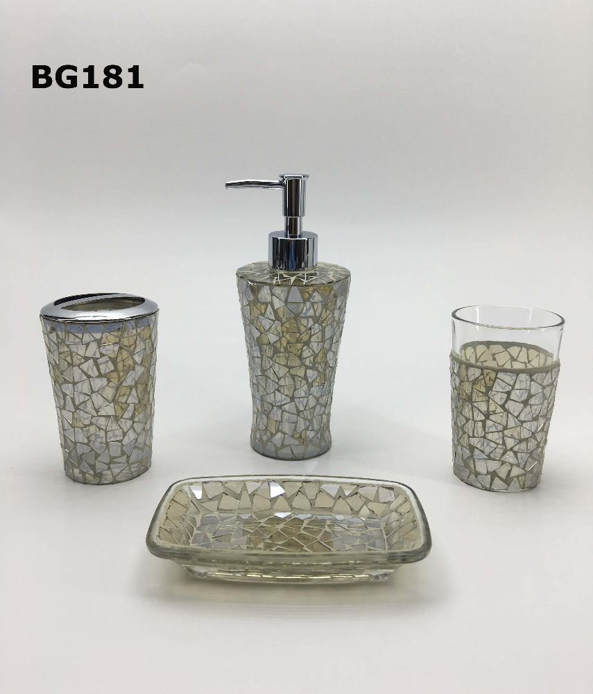 Glass Mosaic Hotel/ Home Bathroom Accessories Set - Buy Hotel ...