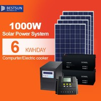 High Quality 1000VA to 10000VA Uninterrupted 1000W Power Supply Online Solar Panel UPS System With