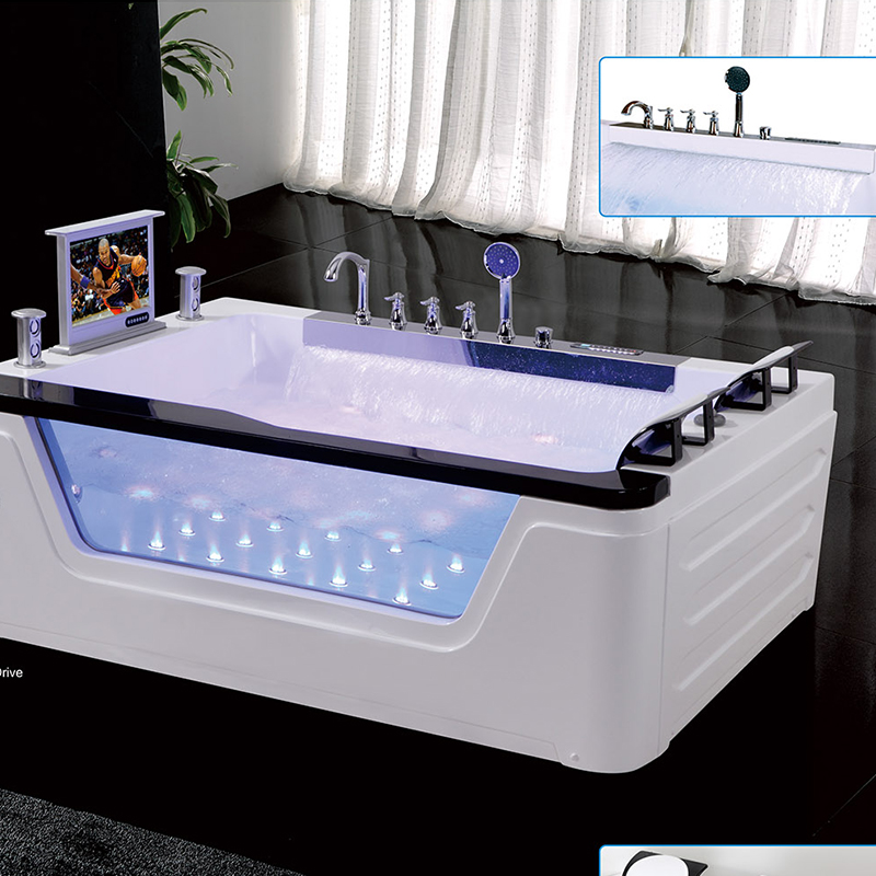 New Arrival Contemporary Two Handles Widespread Waterfall Bathtub