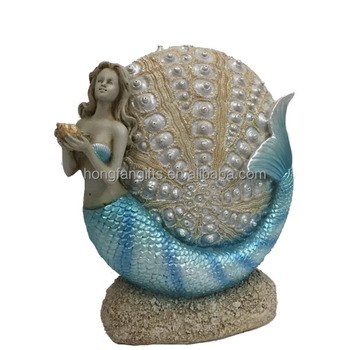 Polyresin Home Decoration Mermaid Statue