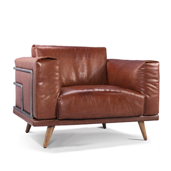 Retro Vintage Sofa Set Leather Sofa For Living Room Furniture Made