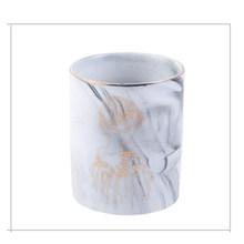1 шт. керамическая подставка для ручек мраморная текстура карандаш чашка Горшок стол Органайзер макияж кисточки держатель(Китай)