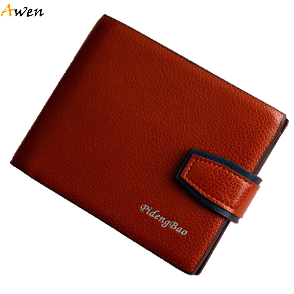 Awen hot sell new hasp open business men's wallets,luxury dress mens designer wallets,money clip wallet for men