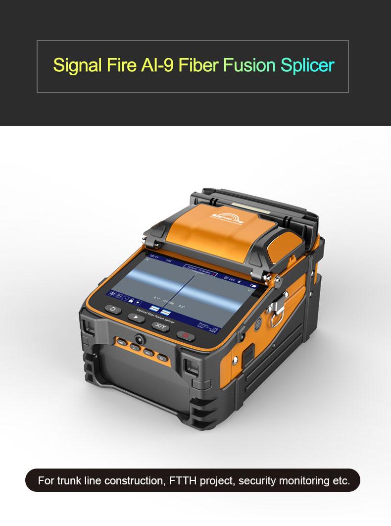 Six motors ARC fusion splicing machine Signal Fire AI-9 optical fusion splicer