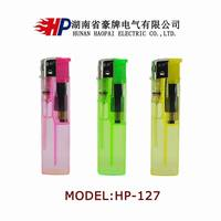 Transparent Disposable gas lighter/cheap electric gas lighter/hunan electric lighter