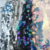 Designing Clothing Iridescent Wholesale Multi Color 18mm Large Sequin Fabric