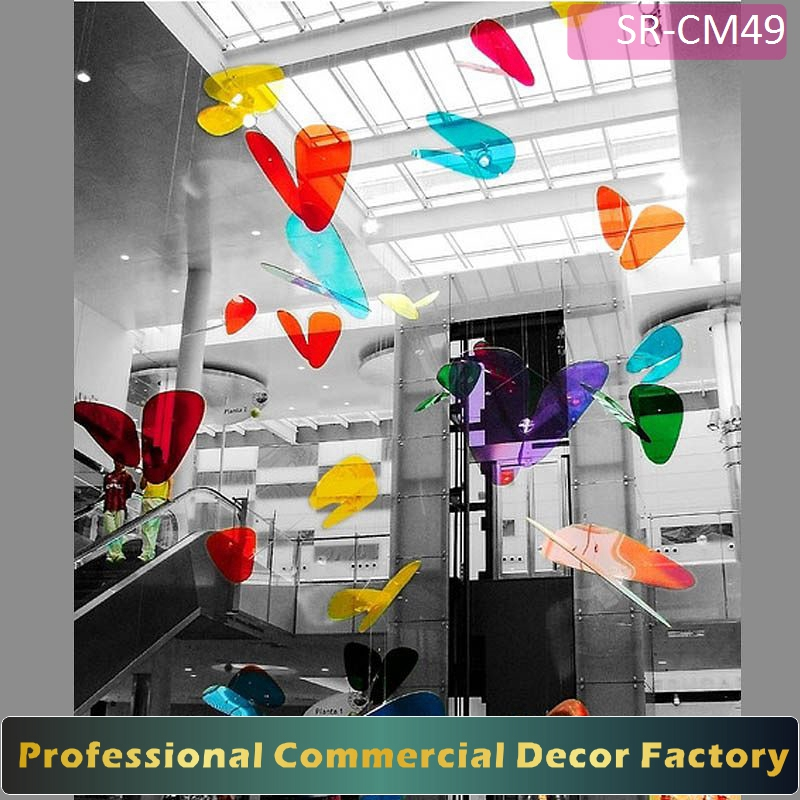 Customize commercial shopping center hotel holiday butterfly decoration for festival display