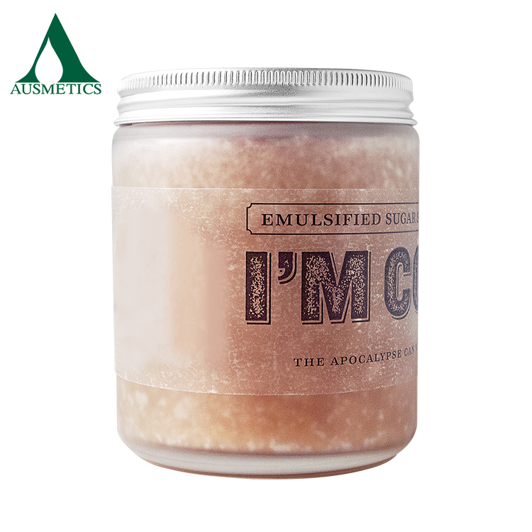Private label skin care emulsified body scrub sugar cookie scrub