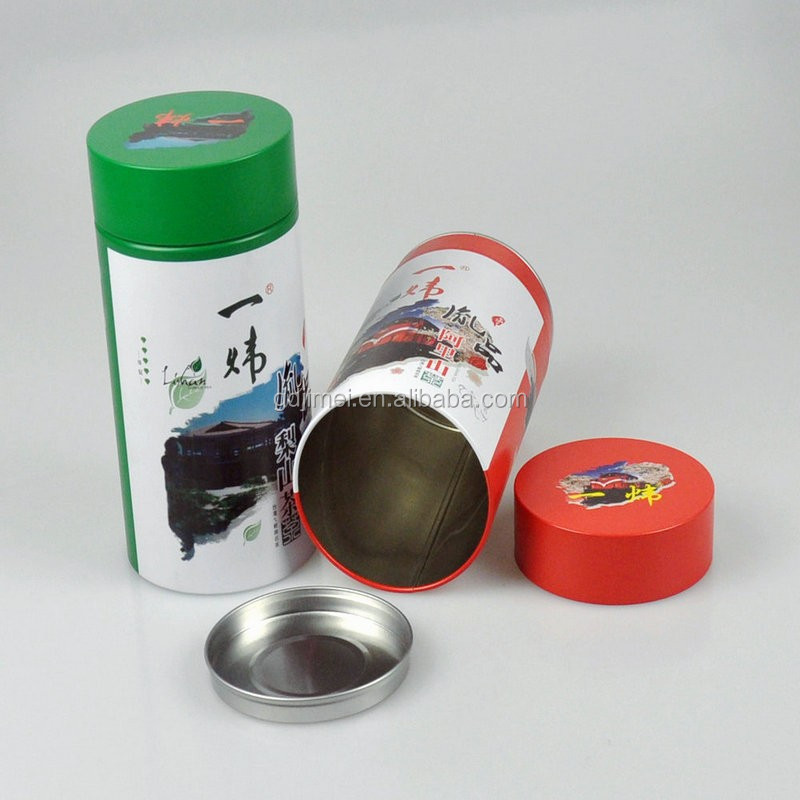Wholesae caviar Round tin for tea screw top