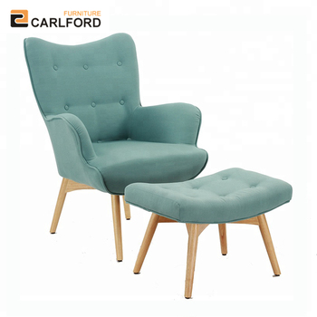 Pleasing Carlford New Design Blue Fabric Accent Chair With Ottoman Modern Wingback Chair For Living Room Buy Accent Chair With Ottoman Blue Fabric Wingback Gamerscity Chair Design For Home Gamerscityorg