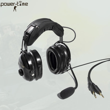 Light Weight Noise Canceling Aviation Headset with 6.3/5.3mm dual pin AG-1