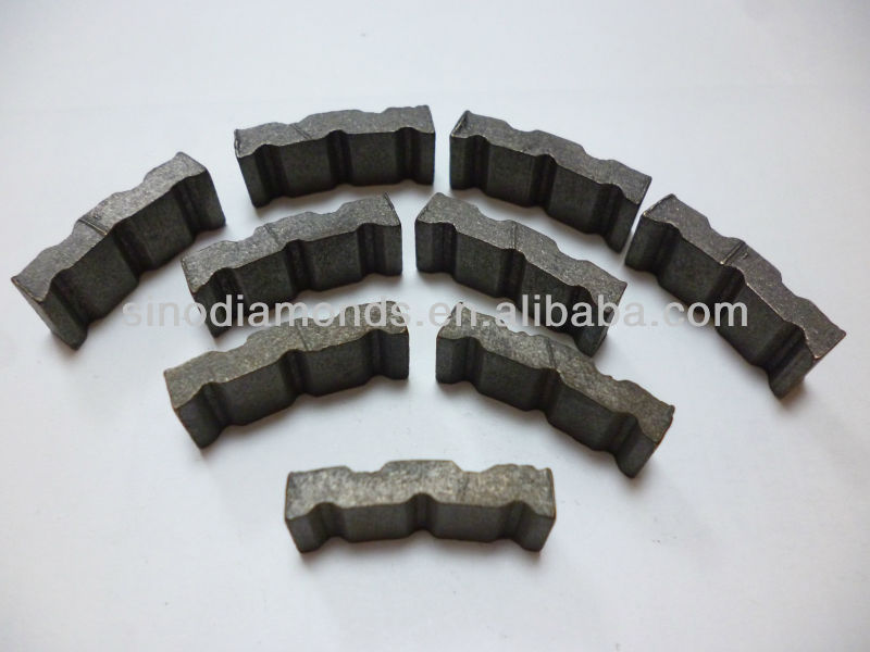 sintered turbo diamond segment for core drill bit