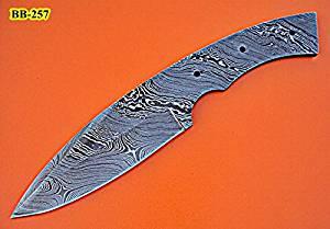 BB-257, Handmade Damascus Steel Blank Blade Full Tang Skinner Knife dmade Damascus Steel Blank Blade Full Tang Skinner Knife