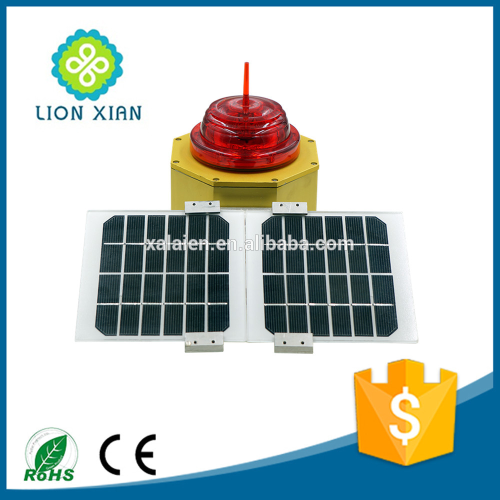 solar powered aluminum material led flashing avaition obstruction light