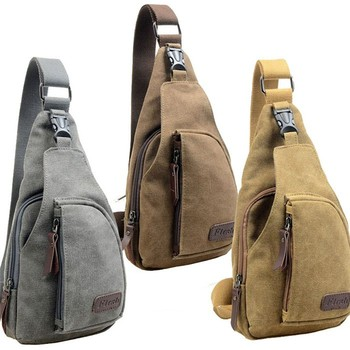 Fashion Vintage Men Messenger Bags Casual Outdoor Travel Hiking Sport Chest Canvas Male Small Retro