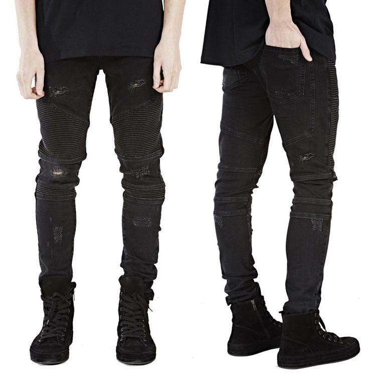 थोक थोक चीन सस्ते कपड़े फैशन बाइकर Strech कस्टम पुरुषों स्कीनी डेनिम जींस