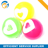 Hollow Heart Style Rubber Bouncing Ball