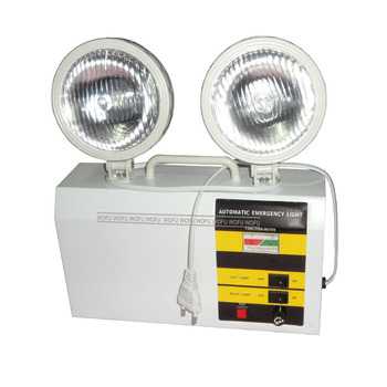 Rechargeable Emergency Lamp Automatic Twin Spots Light 220v