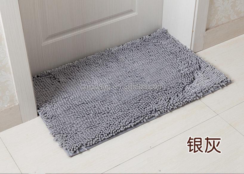 Washable Microfiber Waterproof Bath Mat / Non Slip Bathroom Floor Mat /  Microfiber Bath Mat