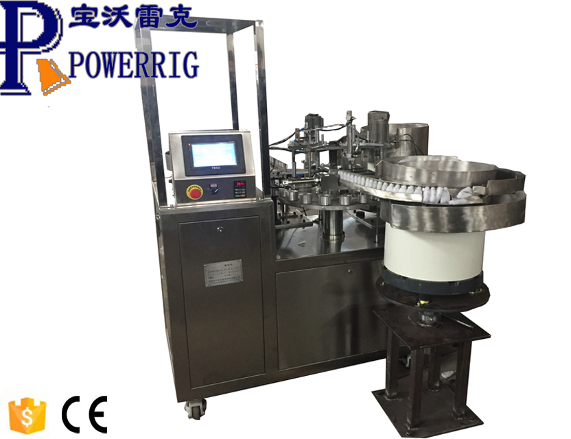 Super glue filling packing capping machine