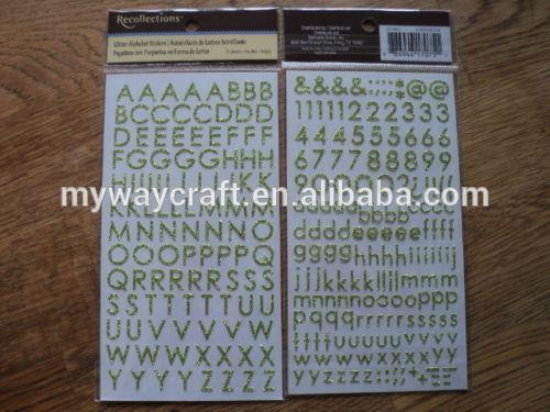 Alphabet Lettre paillettes papier autocollant