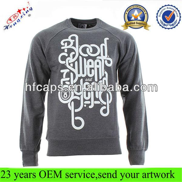 Men's Custom Printed Wholesale Crewneck Sweatshirt/100 Cotton ...