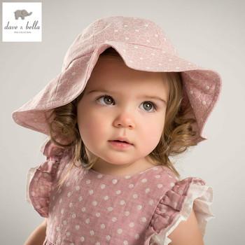 DB5273 dave bella summer baby girls jasmine printed hat girls flower bucket  hat floral bucket pink 424928391e1