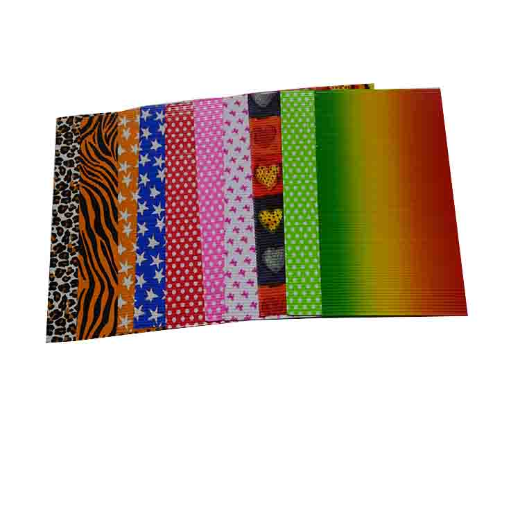 180g Wellpappe Regenbogenwellpapier mit Wellpappe