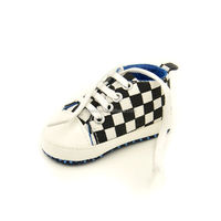 0-12 month Toddler Infant Baby Soft Sole Crib Canvas Shoes Sneaker Newborn Black and white