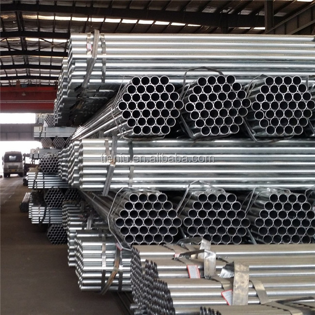 Carbon Galvanized ERW Round Steel Pipe DIN ST35 Material Specifications