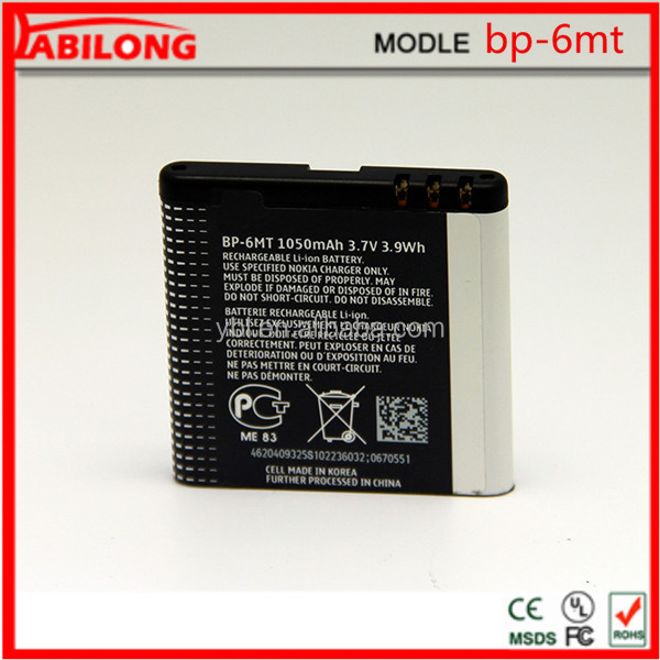 3.7v 1050mAh mobile phone battery for NOKIA 6720c/E51/N81