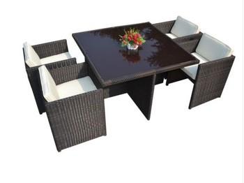 rattan garden outdoor patio conservatory furniture cube dining set 4 seater - Rattan Garden Furniture 4 Seater