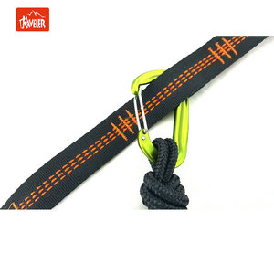 Outdoor Camping Nylon Hammocks lightweight tree straps and Carabiners double hammock