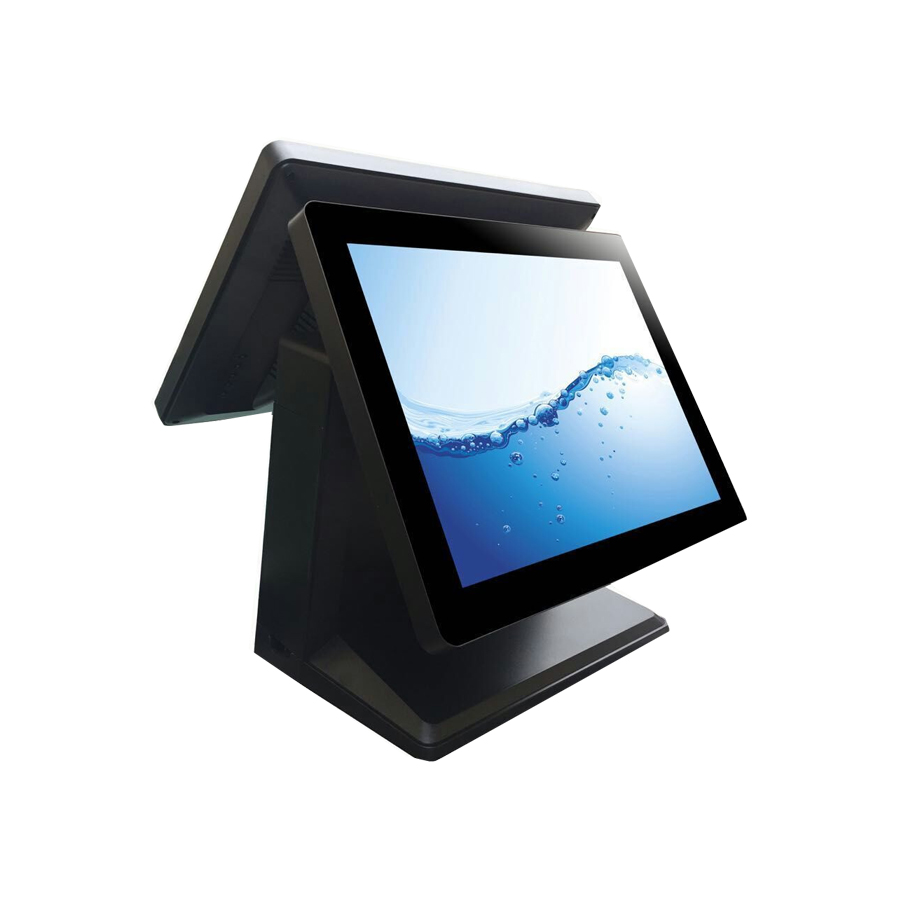 Capacitive Touch Pos 15 Inch White Touch Screen Cashier Machine 4gb Ram All In One Pos System