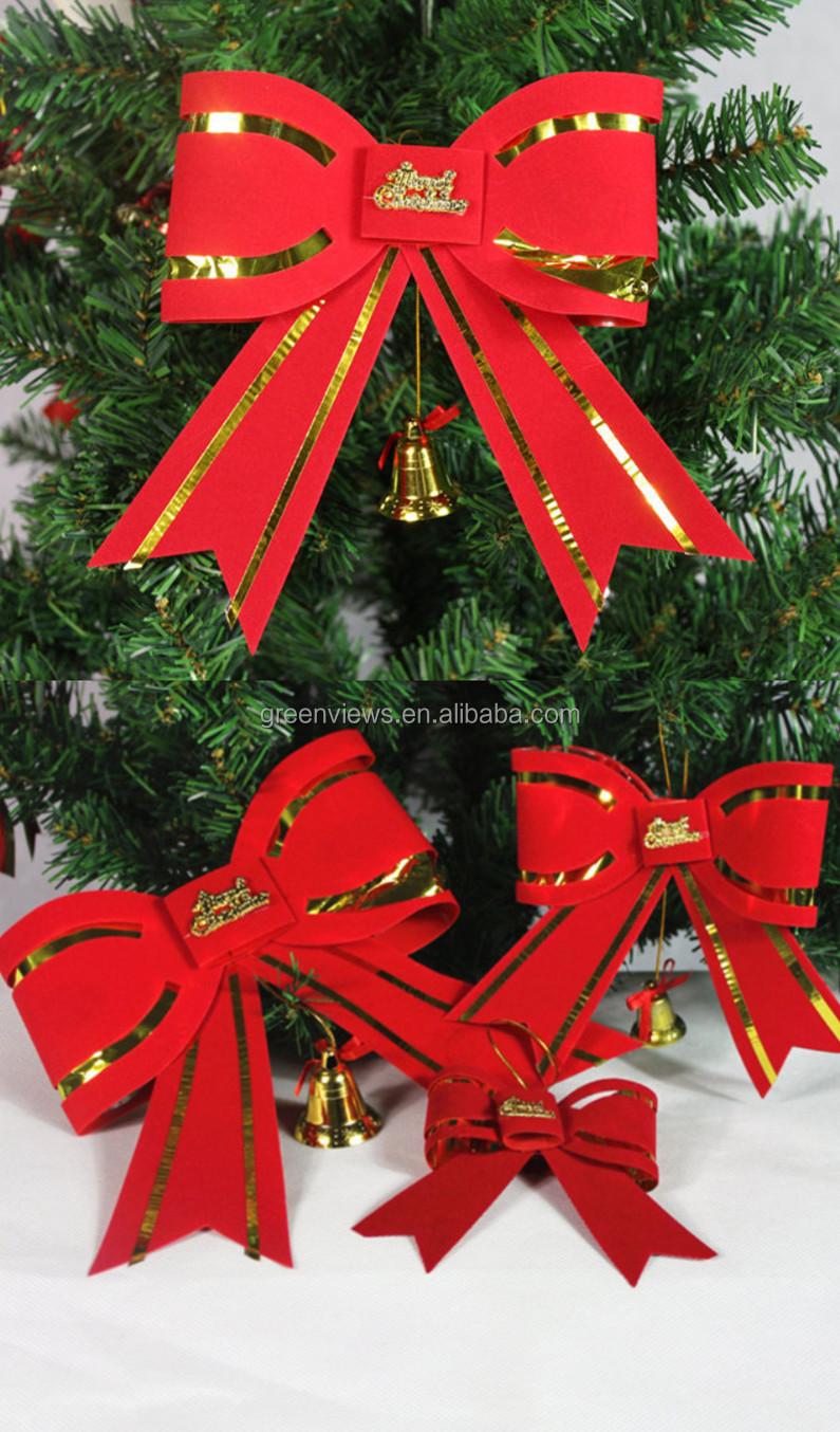 Christmas Tree Bows Red.Factory Wholesale Outdoor Red Wired Ribbon Christmas Tree Decorative Bows Red Velvet Christmas Tree Bows Buy Red Velvet Christmas Tree