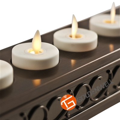 Environmental Rechargeable Set of 6 Flameless 2 Inch Led Tealight Candles