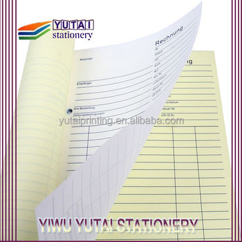 custom restaurant receipt book restaurant bill book printing