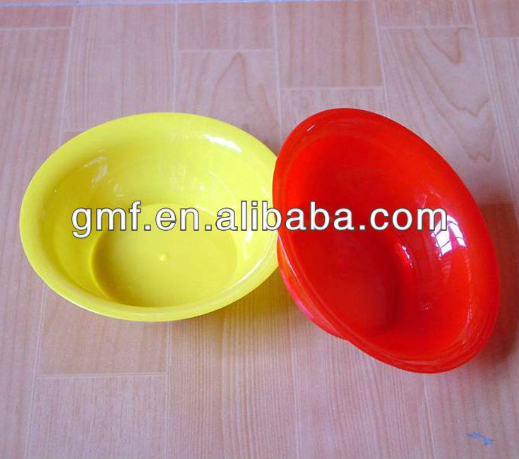 disposable plastic OEM bowl red yellow