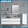 The most popular shampoo sink and side cabinet white bathroom vanity combo with mirror backlit light