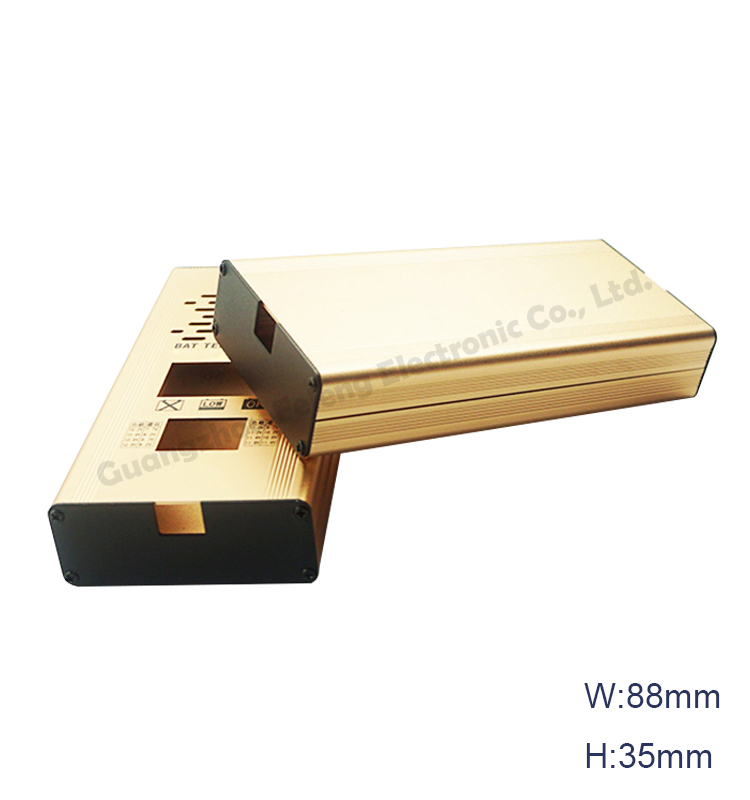thin aluminium box profile extruded housing casing for enclosure