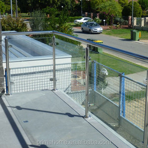 balcony veranda glass with stainless steel balusters
