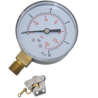 High quality iron brass internal air conditioning pressure gauge