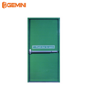 Chinese manufacturers apartment UL WH apartment steel fire door designs listed 2hours steel wood fire rated door with panic bar