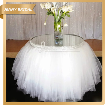 TCO91 China Factory 120 Round White Tutu Round Tablecloths With Embroidery  Lace Table Covers Wedding Decoration