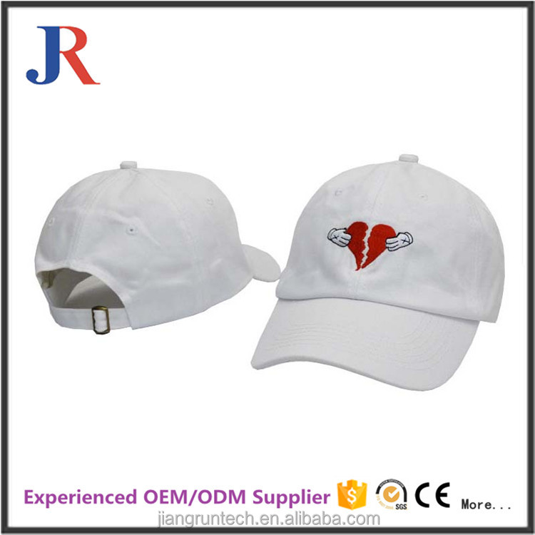 JR Cotton Promotional 6 Panel Baseball Cap With Customized Logo