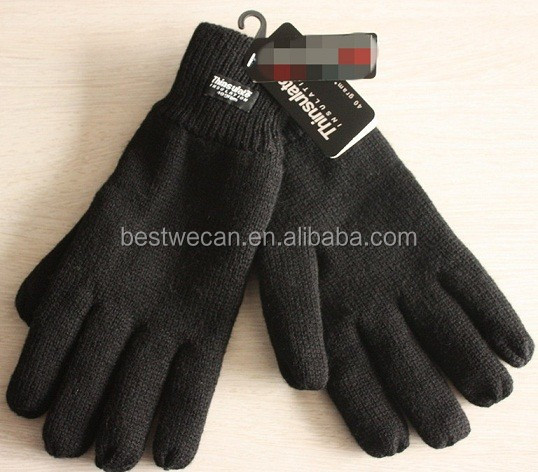 MENS THINSULATE KNITTED THERMAL GLOVES/winter thermal glove