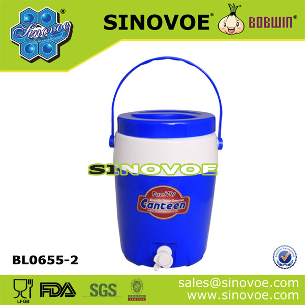 large middle mini plastic cooler water jug