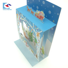 Custom art & Craft 3D Kerst landschap <span class=keywords><strong>papier</strong></span> pop up wenskaart