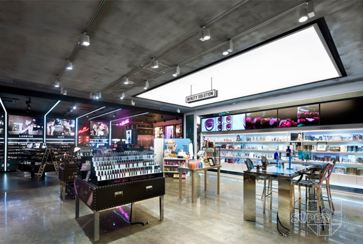 Retail Makeup Exterior And Interior Layout Store Design For Cosmetics